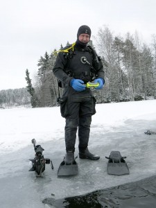 Ice diving film project in Finland.