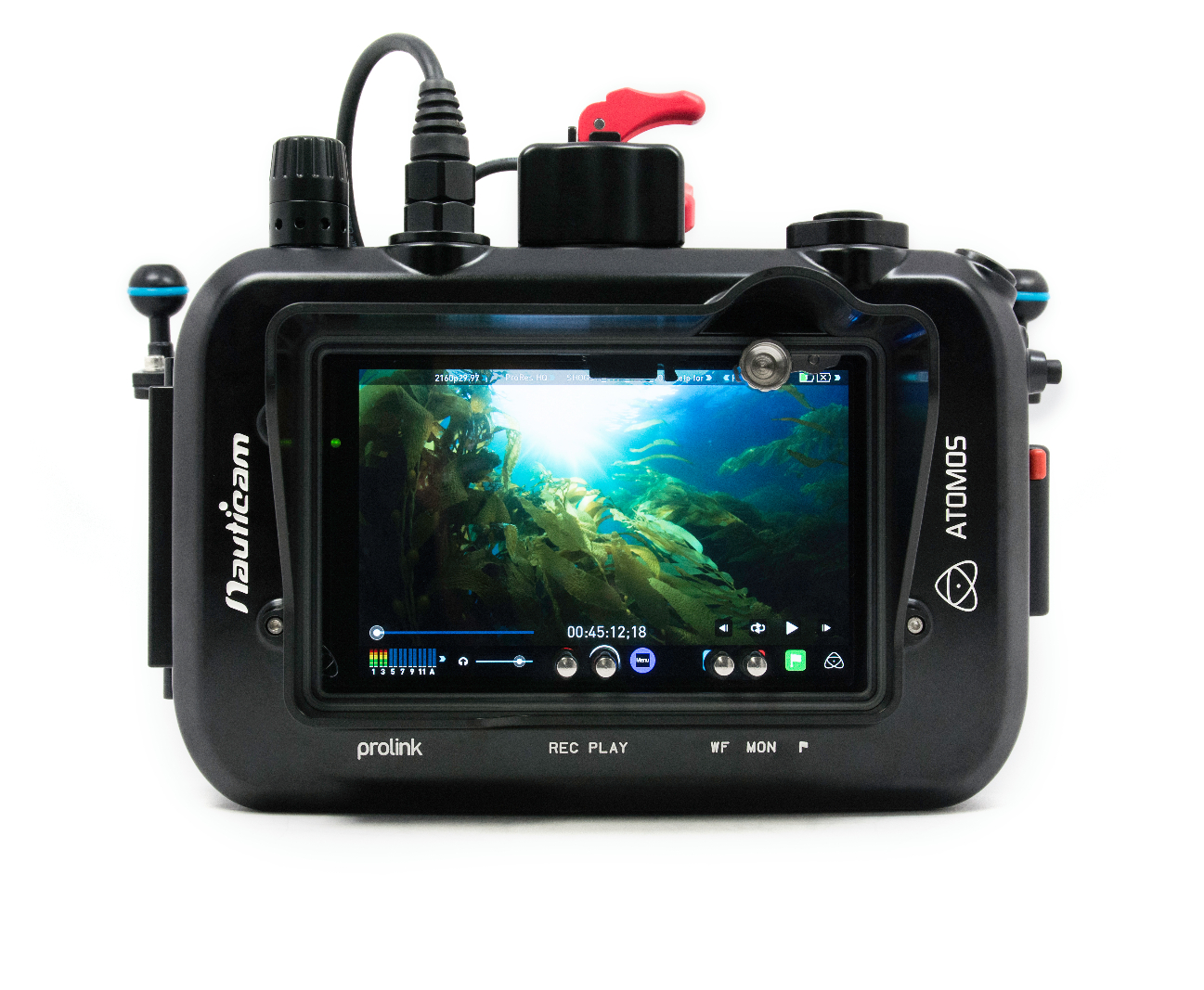 Nauticam housing for Atomos Shogun HDMI recorder