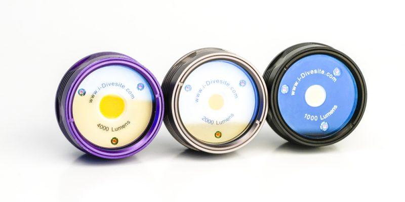 iDivesite Symbiosis light heads 1000 lumen 2000 lumen 4000 lumen variants